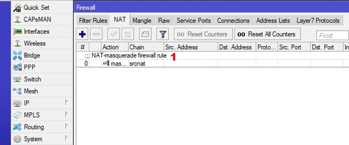 mikrotik firewall address list